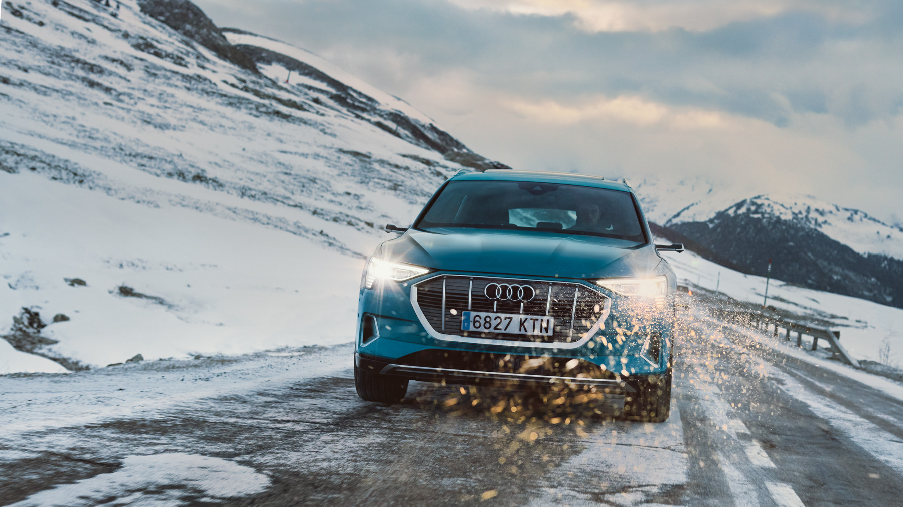 Audi E-Tron winter Barcelona to Baqueira Beret spread 2
